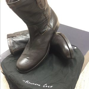 Kenneth Cole Shoes - Kenneth Cole men's brown leather boots